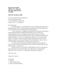 Application Letter As A Nurse Sample Nurse Application Letter V
