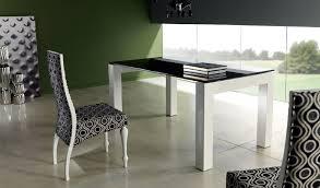 Mesa De Comedor De Diseño Lacada Con Tapa Cristal Ref L69000