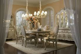 elegant dining room lighting. Luxury White Dining Room Sets With Two Chandeliers Over Beautiful Rugs In Mediteranian Home Decor Elegant Lighting G
