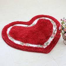 judy dre am love mats heart shaped rug slip past doormat red 20 25 5inch