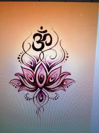 Om Lotus Tattoos Yoga Tattoos Lotus Tattoo Flower Tattoo Designs
