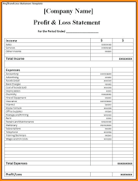 Simple P L Excel Template Pro Excel Template Free Documents Download Of Pl Simple Business