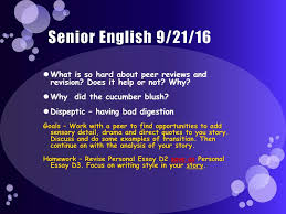 Senior English 91916 I Think That Somehow We Learn Who We Really