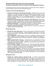 Business Executive Summary Template Valuable Sample Executive Summary For Startup Business One Of The 1