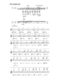 Flute Chart Pdf Flute Fingering Chart Template 6 Free Templates In Pdf