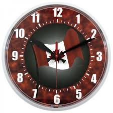 12 5 inch canadian flag outdoor clock