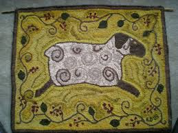 hand hooked primitive wool rug kit from searsport rugs hooked by beautiful searsport rug hooking