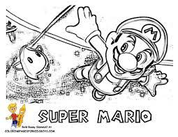 Super Mario Coloring Super Mario Free Yoshi Mario Galaxy