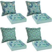 Better Homes & Garden 8 Piece Cushion Set Aqua Patio & Outdoor