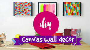 >diy wall art 2 supereasy simple canvas ideas youtube