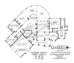 Harmony Mountain Cottage House Plan   House Plans by Garrell    harmony mountain cottage house plan   st floor plan