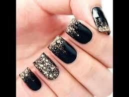 gold black nail art designs
