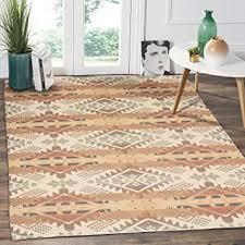 cotton area rug 4 x6 large hand woven multi color striped cotton area rag