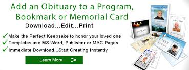 sample of obituary sample obituaries obituary samples obituary programs template