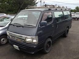 Japanese Used TOYOTA HIACE VAN 3L ENGINE, ROOF CARRER, REAR HEATER ...