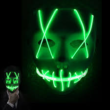 Halloween Neon Lights Us 5 94 20 Off Halloween Cosplay Led Mask Colorful El Wire Scary Mask Flashing Led Neon Light Mask For Party Decoration In Led Strips From Lights