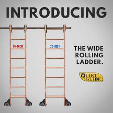 introducing the new wide quiet glide rolling ladders rta
