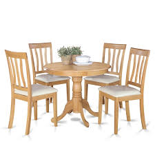 Shop Oak Small Kitchen Table And 4 Chairs Dining Set Free Shipping