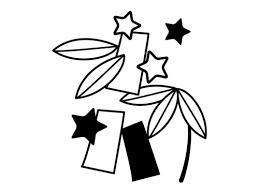 七夕飾りの白黒イラスト02 かわいい無料の白黒イラスト モノぽっと