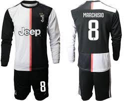 Juventus 2019 2020 Champions League Soccer Jerseys Football Kit Shirt
