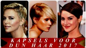 Korte Kapsels Dames Dun Haar Voor 2018 Youtube Tricetirisadme
