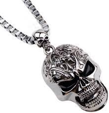 vintage skeleton pendant necklace men skull head chain necklace party gifts accessories souq uae