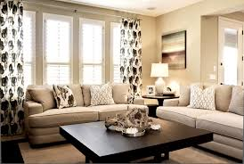 Living Rooms in Neutral Colors - love the coffee table/ great ideas for  beige walls