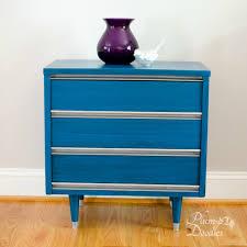 midcentury modern nightstand makeover