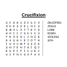 Small Picture Religious Easter Word Search Puzzle Free to print PDF file