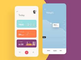 Health Monitor App Dashboard Weight Control By Igor
