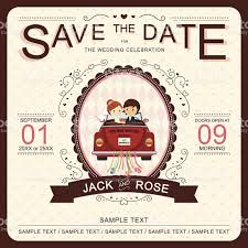 Vector Save The Date Wedding Invitation Template Stock Vector Art