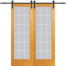 mmi door unfinished pine unfinished veneer pine barn door hardware included mon 60