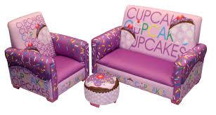 purple cupcakes cupcakes cupcakes sofa chair ottoman set