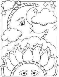 Small Picture Welcome to Dover Publications Lets Color Together Sun Moon