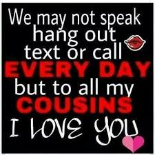 """Cousin Love Quotes Inspiration Today Is €�Cousins Day"""""""
