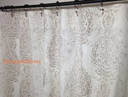 shower curtain fabric shower curtain ecru taupe white 72 x 84 in proportions 1500 x 1135