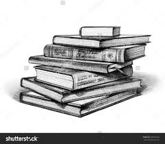 pencil books stack of drawings and on book drawing realistic