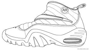 Check out our printable coloring pages selection for the very best in unique or custom, handmade pieces from our coloring books shops. Basketball Coloring Pages Air Jordan Shoes Coloring4free Coloring4free Com