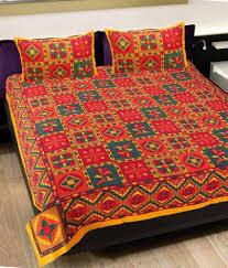 grj rajasthani jaipuri print double bed sheet  grj rajasthani jaipuri print 8 double bed sheet 16 pillow covers