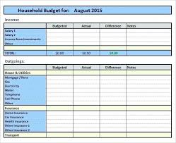 Sample Monthly Household Budget Sample Household Budget Template Need To Personalize Budget Template