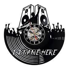 Record Gifts Decorative Custom Dj Name Vinyl Record Wall Clock Gift Personalized