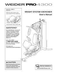 Weider Pro 4300 Exercise Chart Download Weider Pro 4300 System 30963 Users Manual Manualzz Com