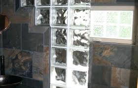 showers glass block shower wall commercial partition walk in bathroom remodel medium size designs cost