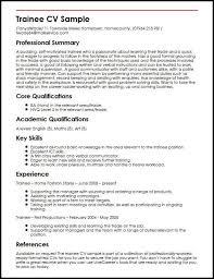 Trainee Cv Sample Myperfectcv Resume Examples Cover