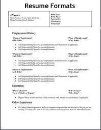 Different Types Of Resumes Samples Experience Resumes