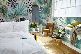 Tropische Dromen Modern Slaapkamer Fotobehang Natuur