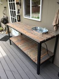 outdoor table. Outdoor Buffet Table