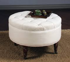 ottoman coffee table tray ottoman footstool coffee table storage tufted leather ottoman