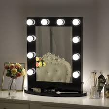Black Mirror With Lights Chende Hollywood Vanity Lights Mirror Wall Mounted Makeup Mirror For Dressing Table White Black