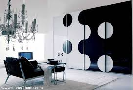 black and white modern furniture. Black-white Modern Design Wardrobe With Sliding Door Black And White Furniture F